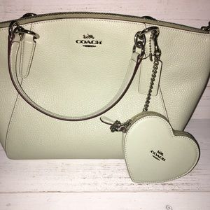 Mint Heart Coin Purse With Attachment Chain